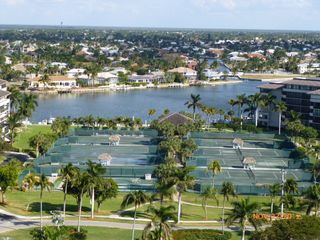 South Seas Club condo photo - Tennis courts & back bay looking from the condo unit entry door