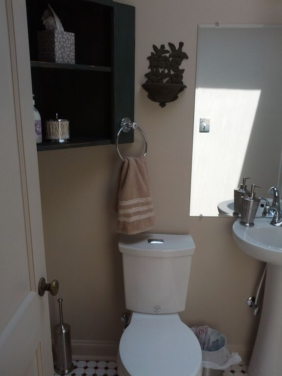 Bathroom (new dual flush toilet)