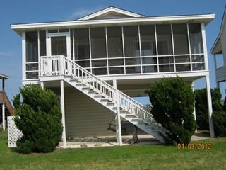 Holden Beach house photo - Full width screen porch