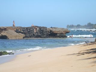 Haleiwa cottage photo - Alligator Rock, great for climbing & swimming during small surf