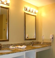 Splash Resort condo photo - Both bathrooms have a standalone shower, and double sinks / vanities.
