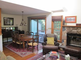 Tannersville townhome photo - Living Room Opens into Dining Room and Back Deck
