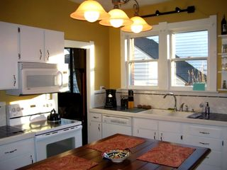 Kitchen with island seating for 4