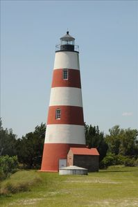 See the Sapelo Island lighthouse