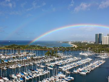 Rainbow from Penthouse Paradise Lanai