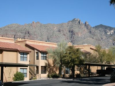 Skyline Villas backdrop is the Santa Catalina Mountains, a National Forest.