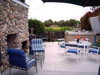 Del Mar house photo - Patio With Fireplace & Jacuzzi