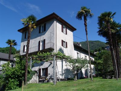 A green oasis in the middle of the popular resort of Tenero on Lake Maggiore