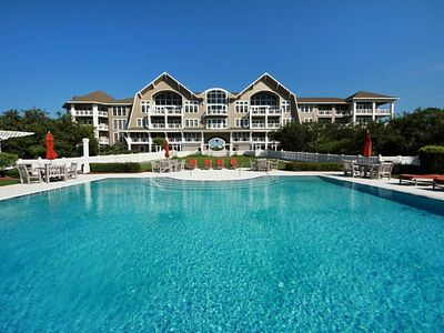 View of Compass Point II from Pool, Watersound, FL - Pool and building view