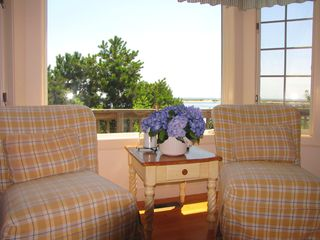 New Seabury house photo - Living room with ocean view
