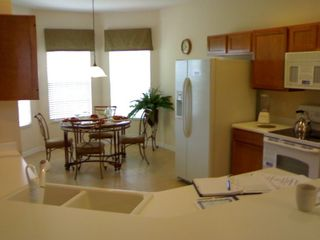 Kitchen area--everything necessary is provided, from a corkscrew to a microwave