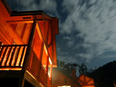 Pigeon Forge cabin rental - Beautiful Cabin Night and Day. 2 bdrm sleeps 8-10 A. Extra large sq footage