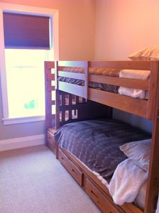 Bedroom#5 with bunk beds with their own stairs....how fun!