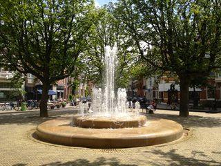 Fountain on a square around the corner - East Amsterdam apartment vacation rental photo