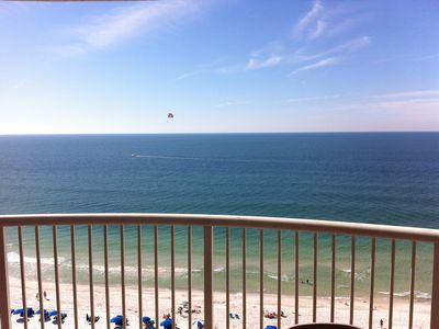 Nothing is more warmer than the Gulf Of Mexico! Actual view from the balcony!
