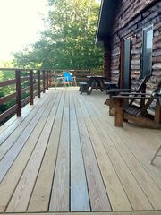 Bridgewater Corners cabin photo - Deck with picnic table and grill