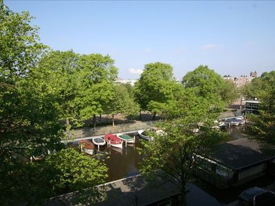 View from apartments, opposite marina and small park