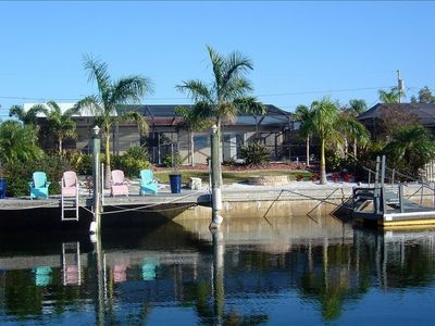 Waterview Of Fixed Dock - Floating Dock And Backyard