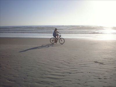 New Smyrna Beach condo rental - Morning bike ride on NSB near Coronado Del Mar