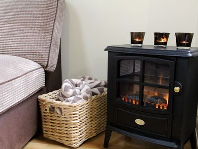 Enjoy a warm atmosphere with the electric stove fire