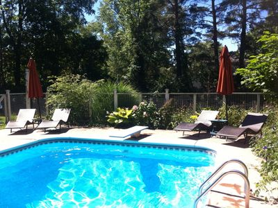 private in-ground pool 18X32 feet, 10' deep at deep end, 3' at shallow w/gazebo