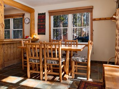 Share a meal — beautiful natural light all day in winter, cosy at night