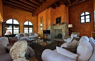 Zamora Province villa photo - The WineMaker´s house: Lounge with TV and fireplace. Views over the vineyards.