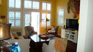 Captiva Island house photo - Main Floor Great Room, 55inch television, and Shelley the Turtle on the wall!