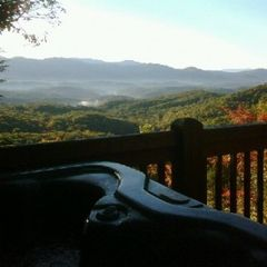 Ellijay cabin photo - You can't beat the view from the deck of this spectacular 1 bedroom cabin