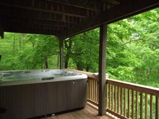 Galena house photo - Lower level boasts the Outdoor Hot Tub with privacy and incredible views