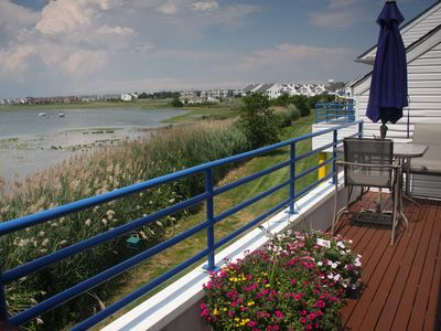 Brigantine townhome rental - deck
