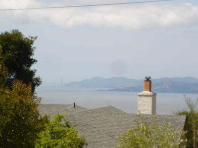 Foggy view from the cottage San Francisco Bay, Golden Gate & Marin County: