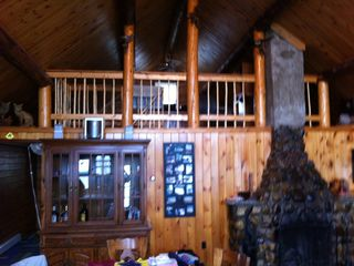 Cross Lake cabin photo - Living Area Looking at Loft Bedroom