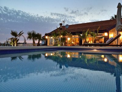 Villa with pool, terrace and private garden on the beach