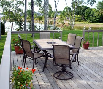 A deck for dining or relaxing