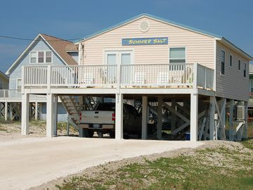 Fort Morgan house rental - Beach living at it's best - Gulf Views from both decks, kitchen and Den Windows!
