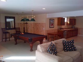 West Dover house photo - BIG lower level includes billiards, wetbar & 50' tv - perfect for kids & adults