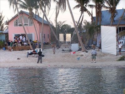 An episode of a model reality show being filmed, just after hurricane Wilma