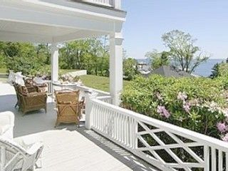 Rockport house photo - Front porch for morning coffee and watching boats