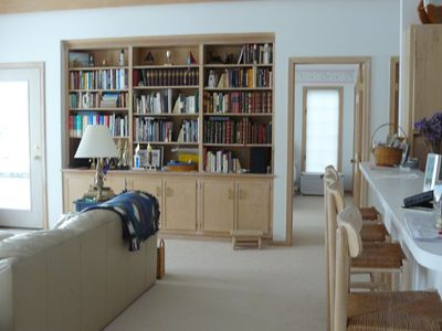 Great room library.