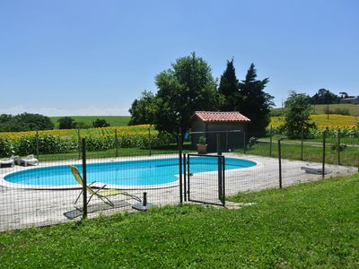 House 15 people on slopes of Lauragais - Park with pool - 7 rooms