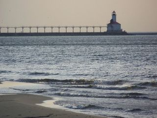 Michigan City house photo - A walk along the beach takes you to this magnificent lighthouse