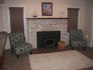 Romulus house photo - Fireplace sitting area
