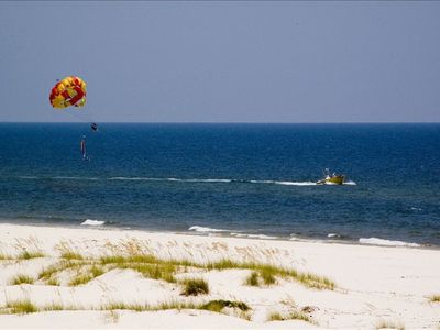 Outdoor activities including parasailing