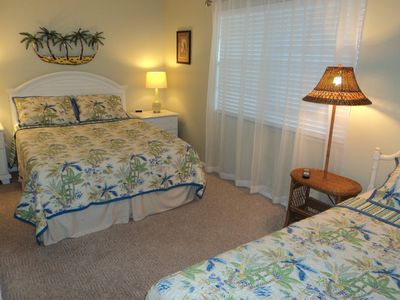 Pillow-Top Queen and a single bed in 2nd BR with private bath.