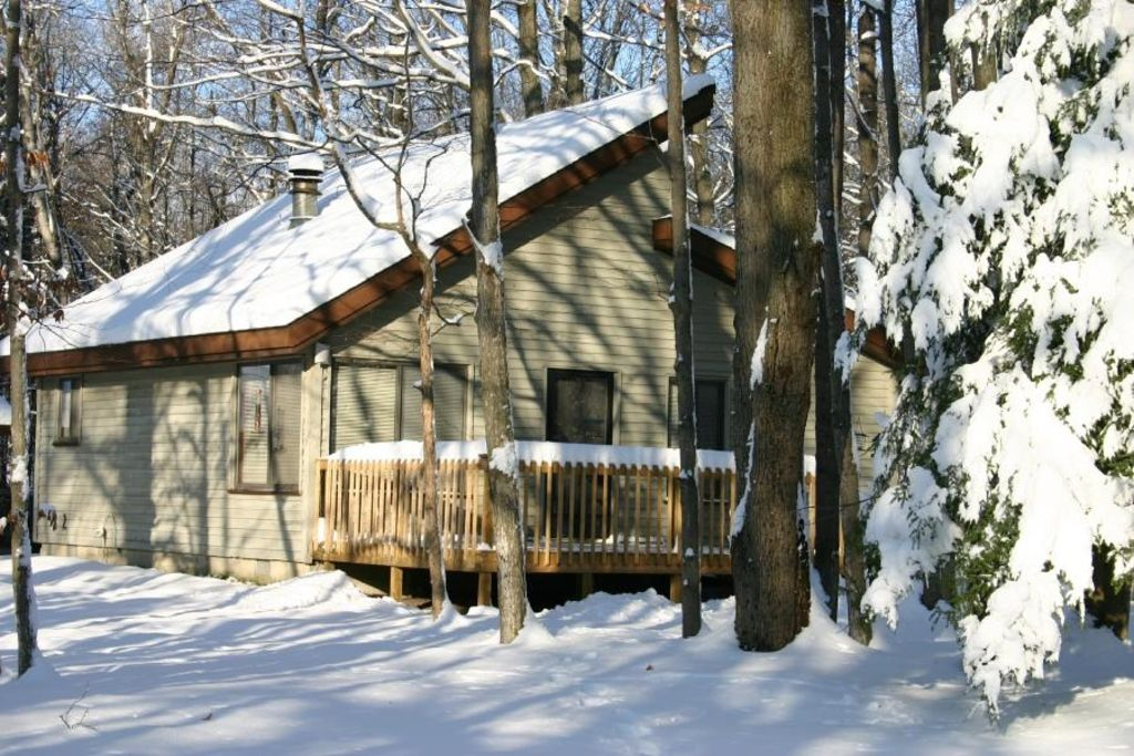 Cozy betsie river cabin 1 mile from crystal for Crystal mountain cabin rentals