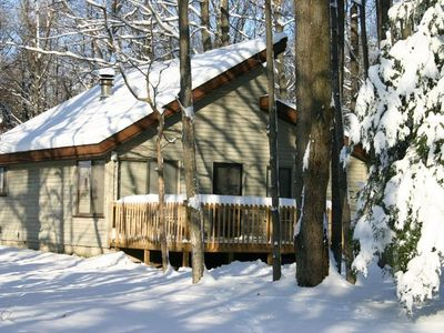Crystal Mountain, Thompsonville cabin rental - Winter at the cabin