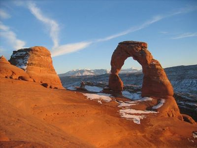 Moab townhome rental - Sunset at the Delicate Arch
