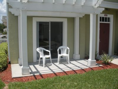 Venetian Bay townhome rental - Relax on the patio!