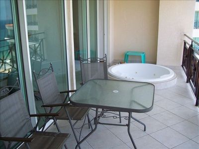 Our terrace with jacuzzi
